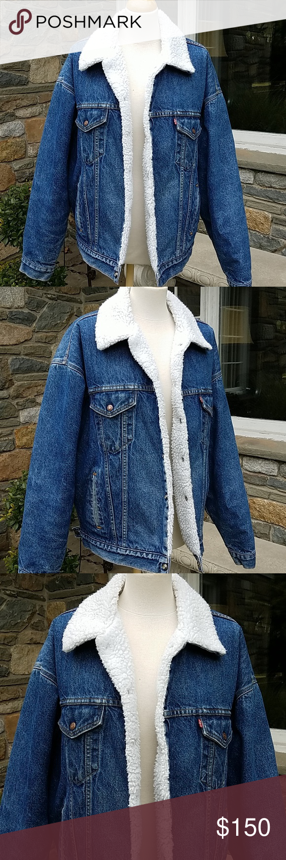 Levius vintage usa oversized sherpa jean jacket in my posh