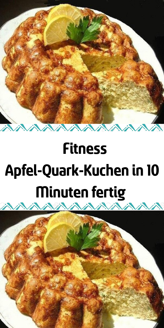 Fitness Apfel-Quark-Kuchen in 10 Minuten fertig   - Rezepte - #ApfelQuarkKuchen #fertig #Fitness #Mi...