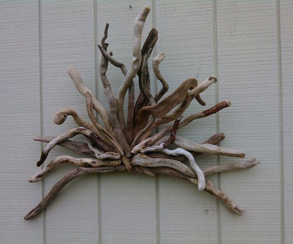 Driftwood Sunburst Wall Sculpture Repurposed By Burlgirlcreations