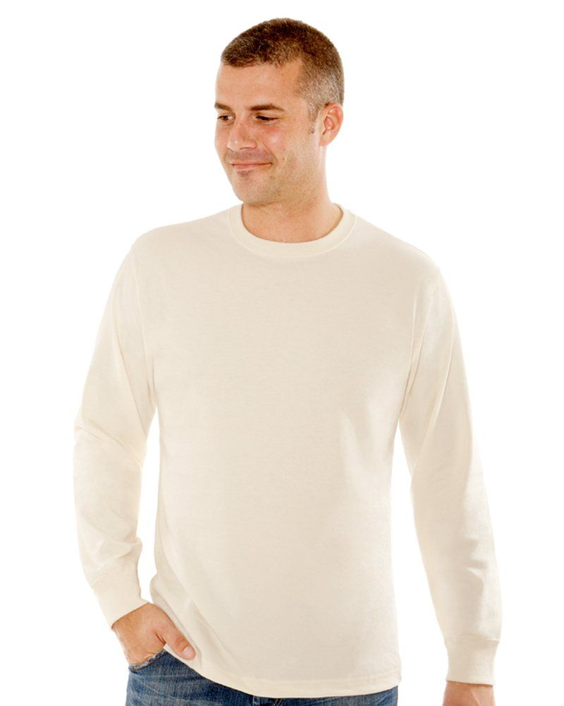 Mountain Tee - MEN'S 9 OZ. LONG-SLEEVE CREWNECK T-SHIRT #MadeInCanada by Redwood Classics Apparel