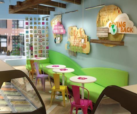 Ice cream shop interior beautiful small house design for Small home decor stores