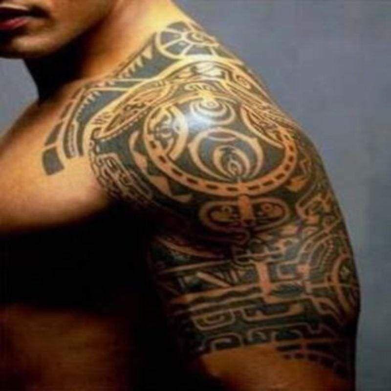 Dwayne johnson 3d waterproof tattoo tribal tattoos for