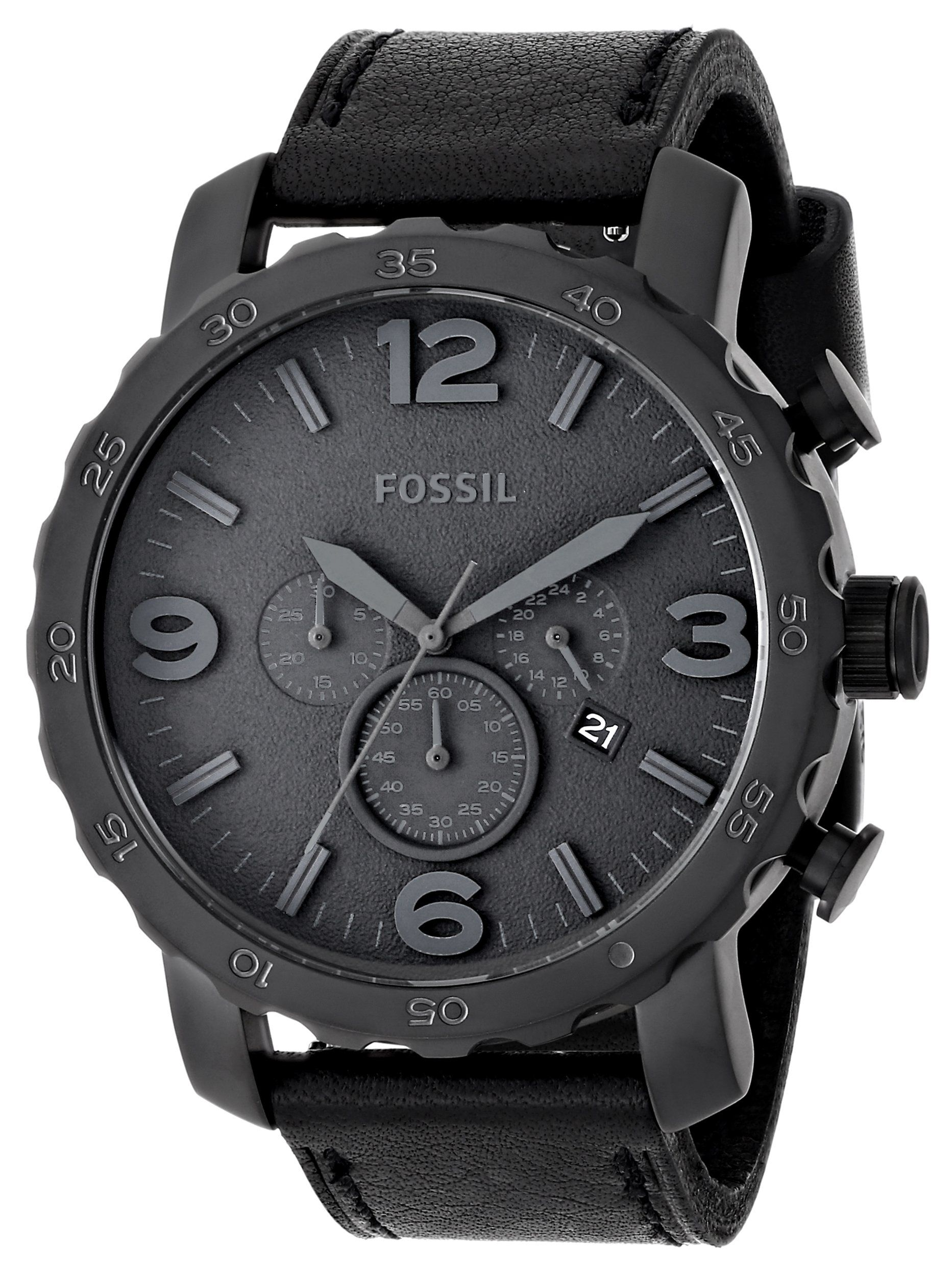 6674010124be5 Amazon.com  Fossil Men s JR1354 Nate Analog Display Analog Quartz Black  Watch  fossil  Watches