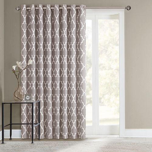 sonoma life + style® fret patio door curtain - 100'' x 84'' | palm