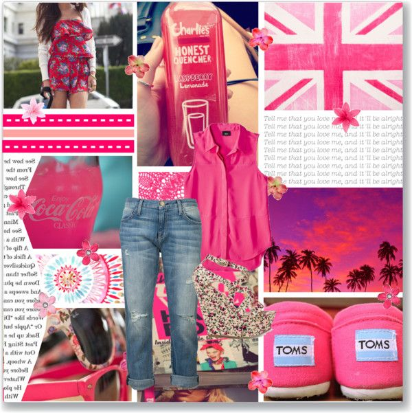 """Pink Collage"" by vanessa1313 ❤ liked on Polyvore"