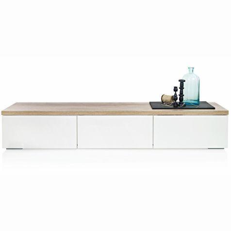 Lowboard Drei Schubladen Naturfarbene Platte Modern
