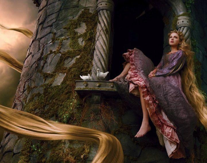 Annie Leibovitz's Celebrity Disney Dream Portraits - My Modern Metropolis - Taylor Swift as Rapunzel