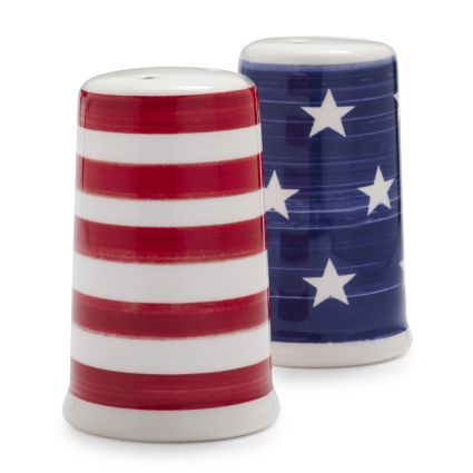 Stars and Stripes Salt and Pepper Shaker Set, available at #surlatable