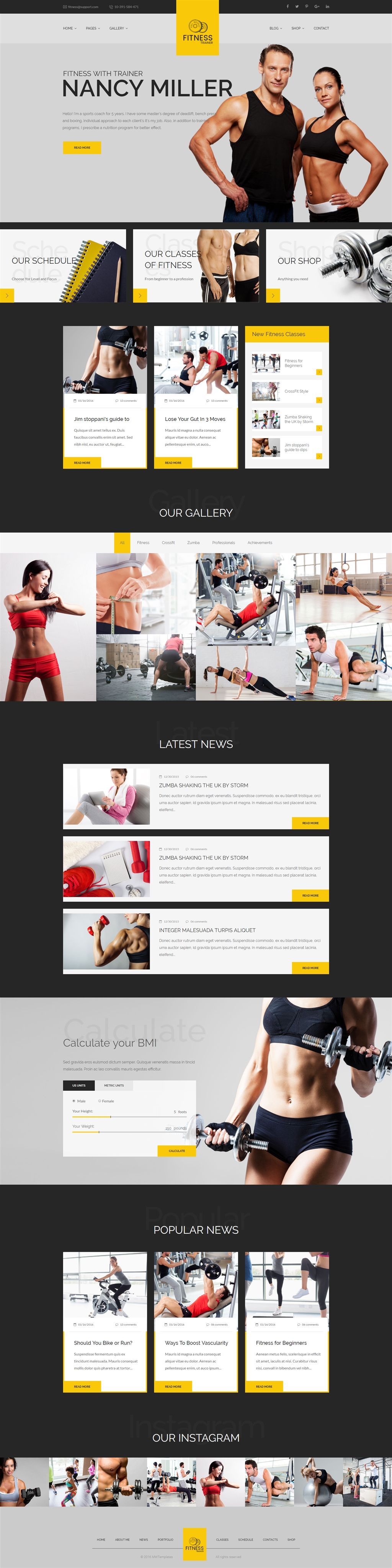 Sport Trainer - Boxing, Yoga and Crossfit Trainer HTML template ...