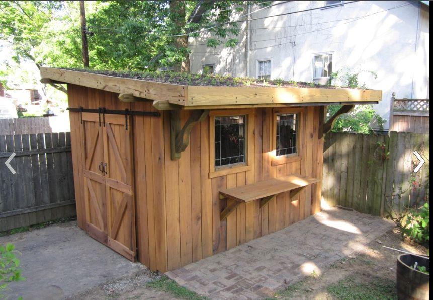 Garden Shed (via Houzz) Shed design, Cool sheds, Shed