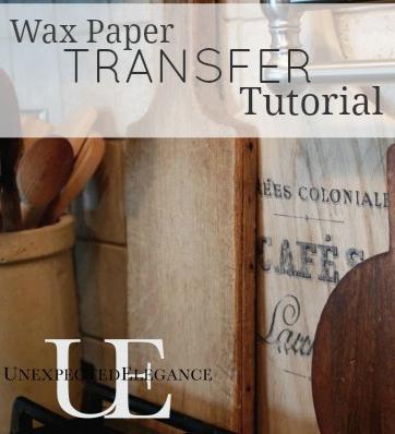 transfer images using wax paper tutorial bertragung und bastelei. Black Bedroom Furniture Sets. Home Design Ideas