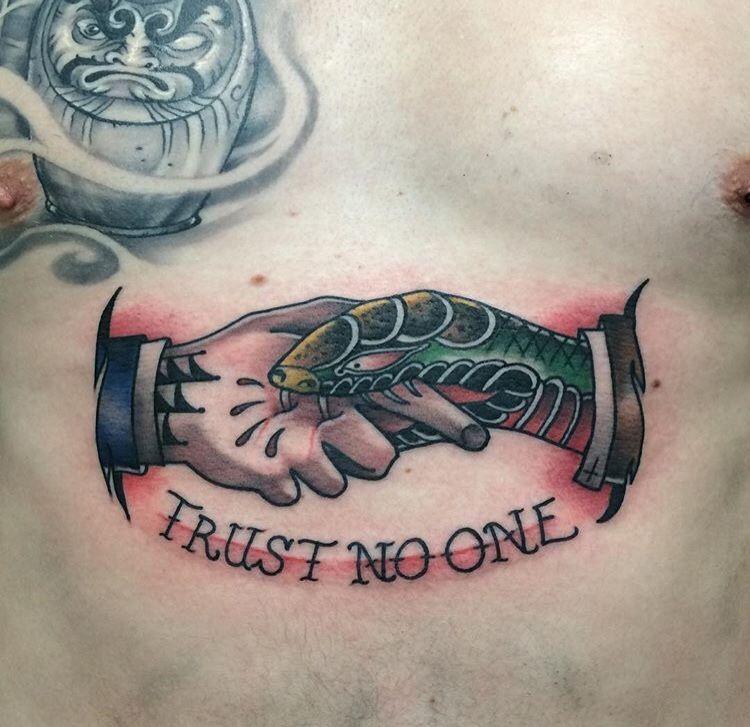 Tattoo blog daniel millar tattoos pinterest tattoo for Trust no one tattoo