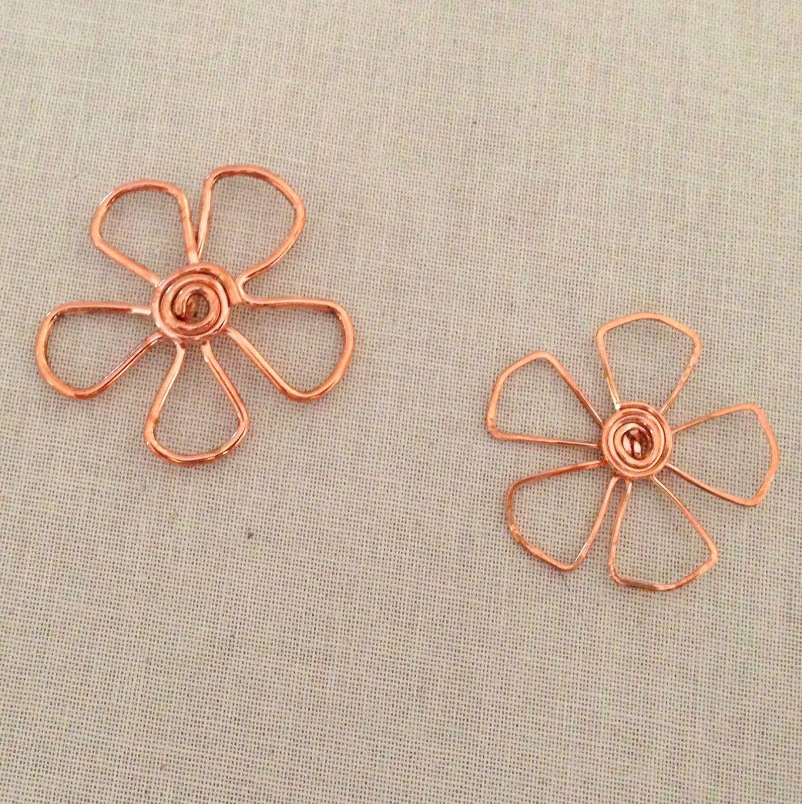 Copper Wire Flower Pendants   Kupfer, Blume und Anleitungen