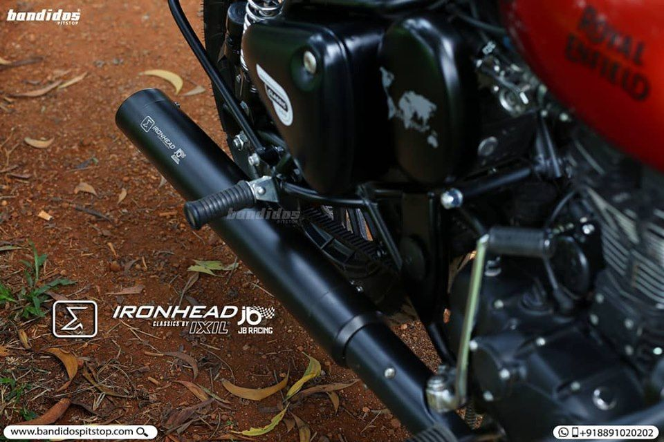 An Exhaust Designed And Created For Royalenfield Ixil Exhausts
