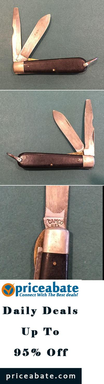 Vintage Camco Usa 2 Bladed Electricians Folding Pocket Knife Vintage Pocket Knives Camco Folding Pocket Knife