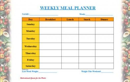 Free Printable Meal Planning Templates - Weekly Monthly and links to