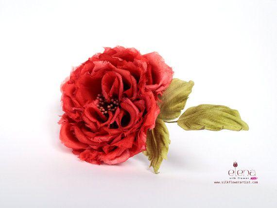 Silk flower brooch we teach how to make silk flowers inspired by items similar to silk flower rose eleonora on etsy mightylinksfo