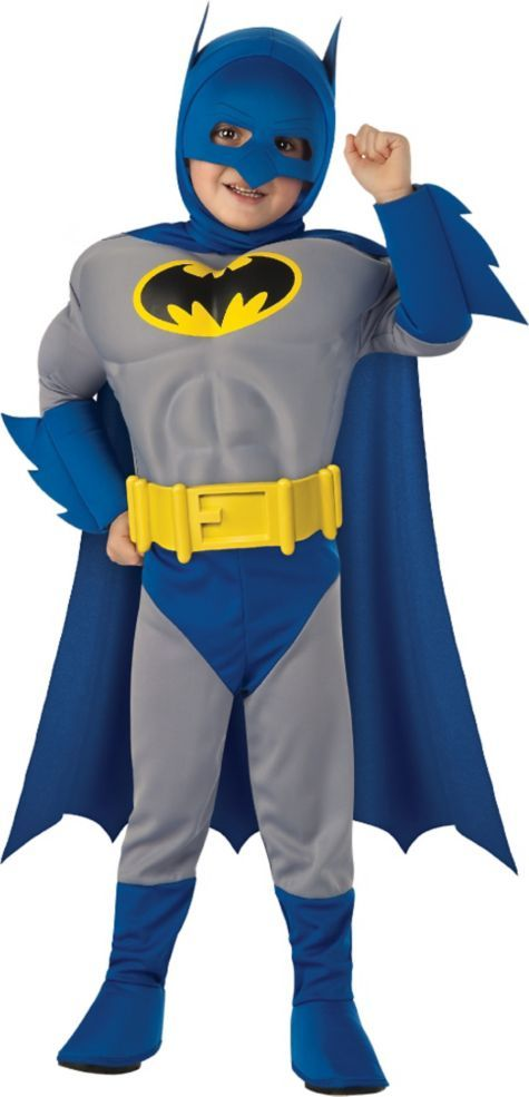 Brave & the Bold Batman Muscle Costume for Toddler Boys - Party ...