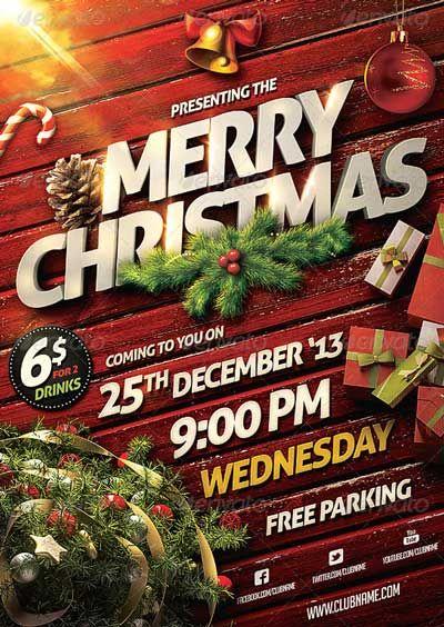 Christmas Party Flyer Template - http\/\/ffflyer\/christmas - free party flyer templates for microsoft word
