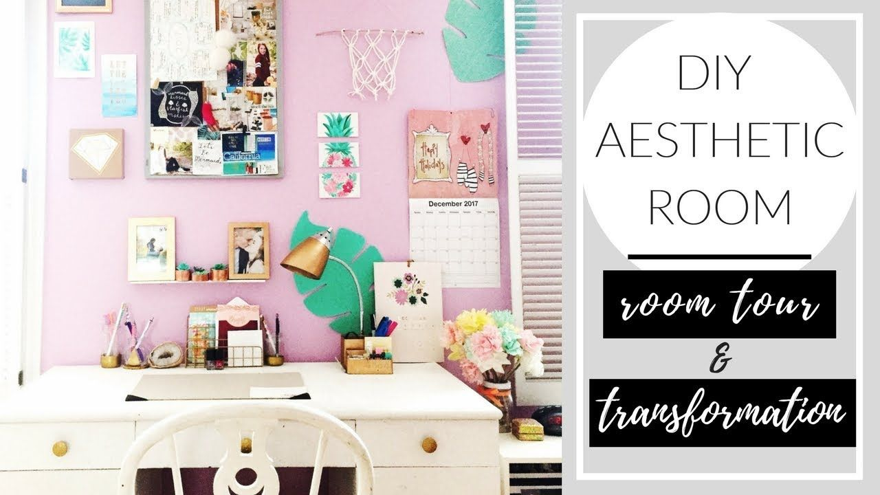Diy Aesthetic Room On A Budget Bedroom Tour Transformation Aesthetic Rooms Budget Bedroom Room