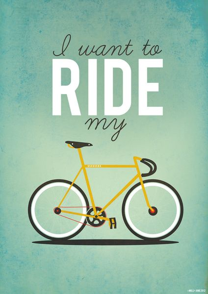 I Want To Ride My Bicycle Art Print Fietsen Fiets Illustratie En Fietskunst