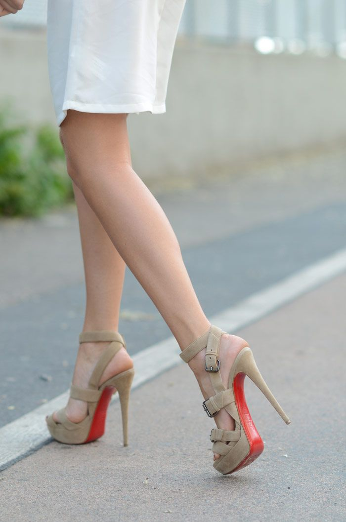 8b941992a5cb Nude Pumps by Christian Louboutin - Shop Now