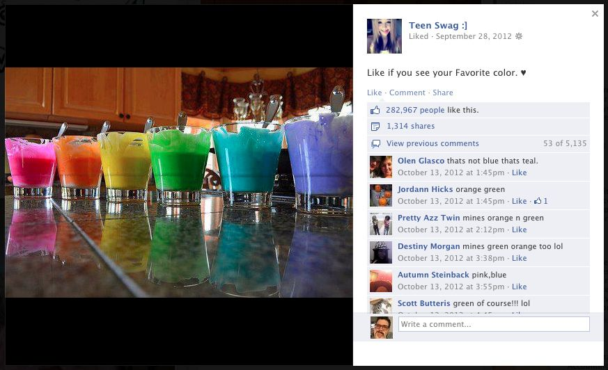 Colors: 282,967 Likes | 24 Things Teens Really, Really Like
