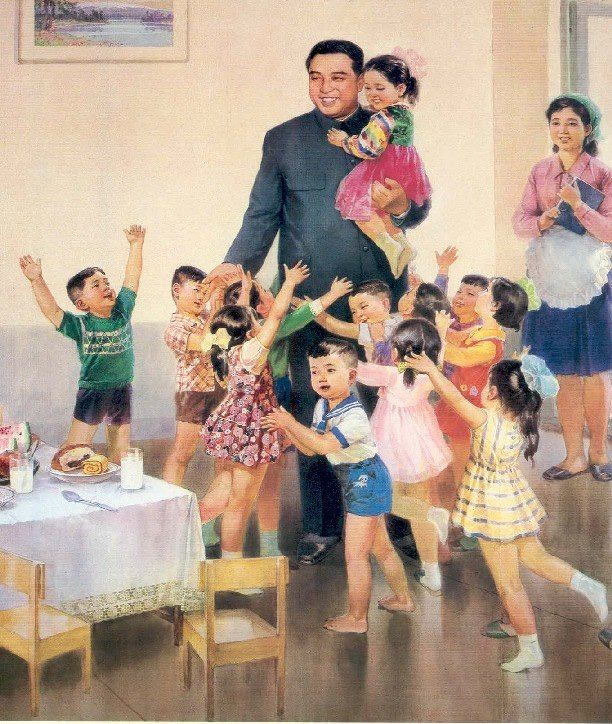 Kim Il Sung visiting a nursery school. (SOURCE: http://travelswithscott.com)