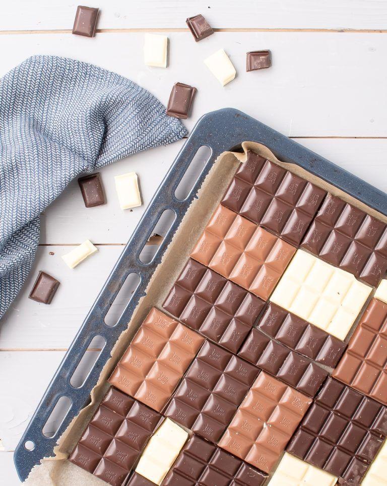 Bruchschokolade selber machen in Backofen Smillas Wohngefuehl
