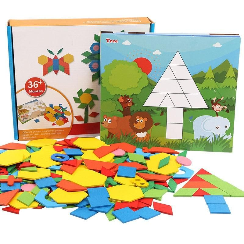 Wooden Jigsaw Puzzle Montessori Toys Educational Toys Pattern