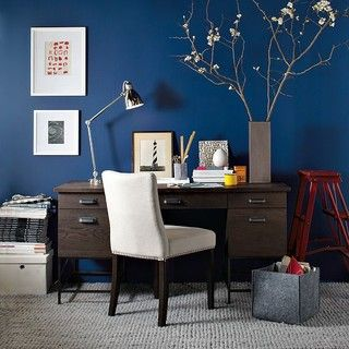 Blue Office In 2019 Decor Home Offices