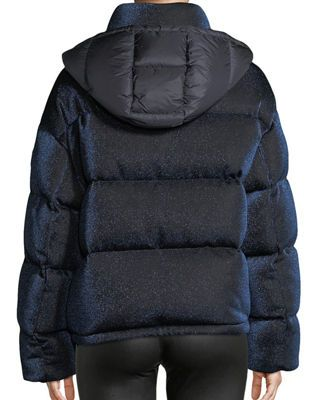 24e0c8f57 Moncler Caille Metallic Puffer Coat w/ Removable Hood | Products ...