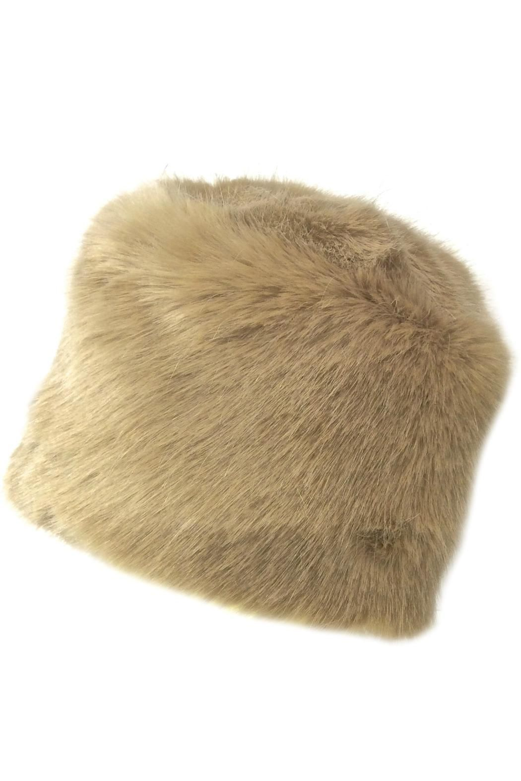 14531176b4c Plush and luxurious faux fur toque in solid color beige makes this hat so  much fun