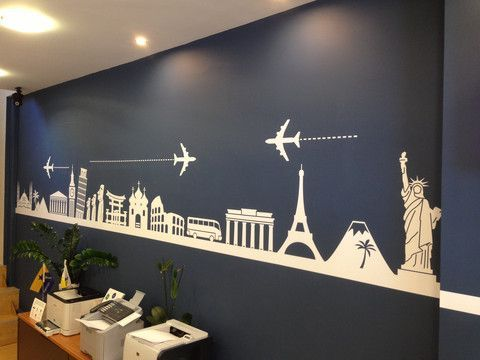 Agency Office Walls Spaces Travel Wall Bedroom World