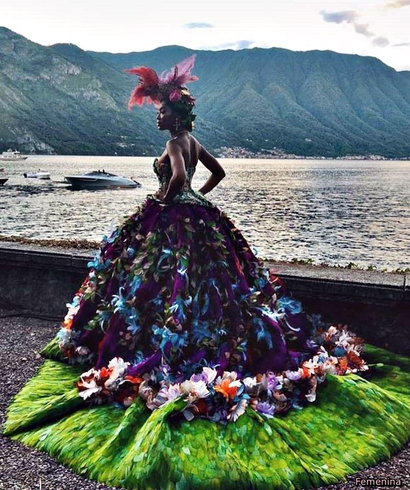 Naomi Campbell At The Dolce&Gabbana Alta Moda Fashion Show