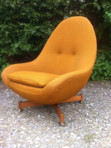 Mid Century · Armchairs · Vintage Retro Greaves And Thomas Egg Chair  Spinning Rotating Chair