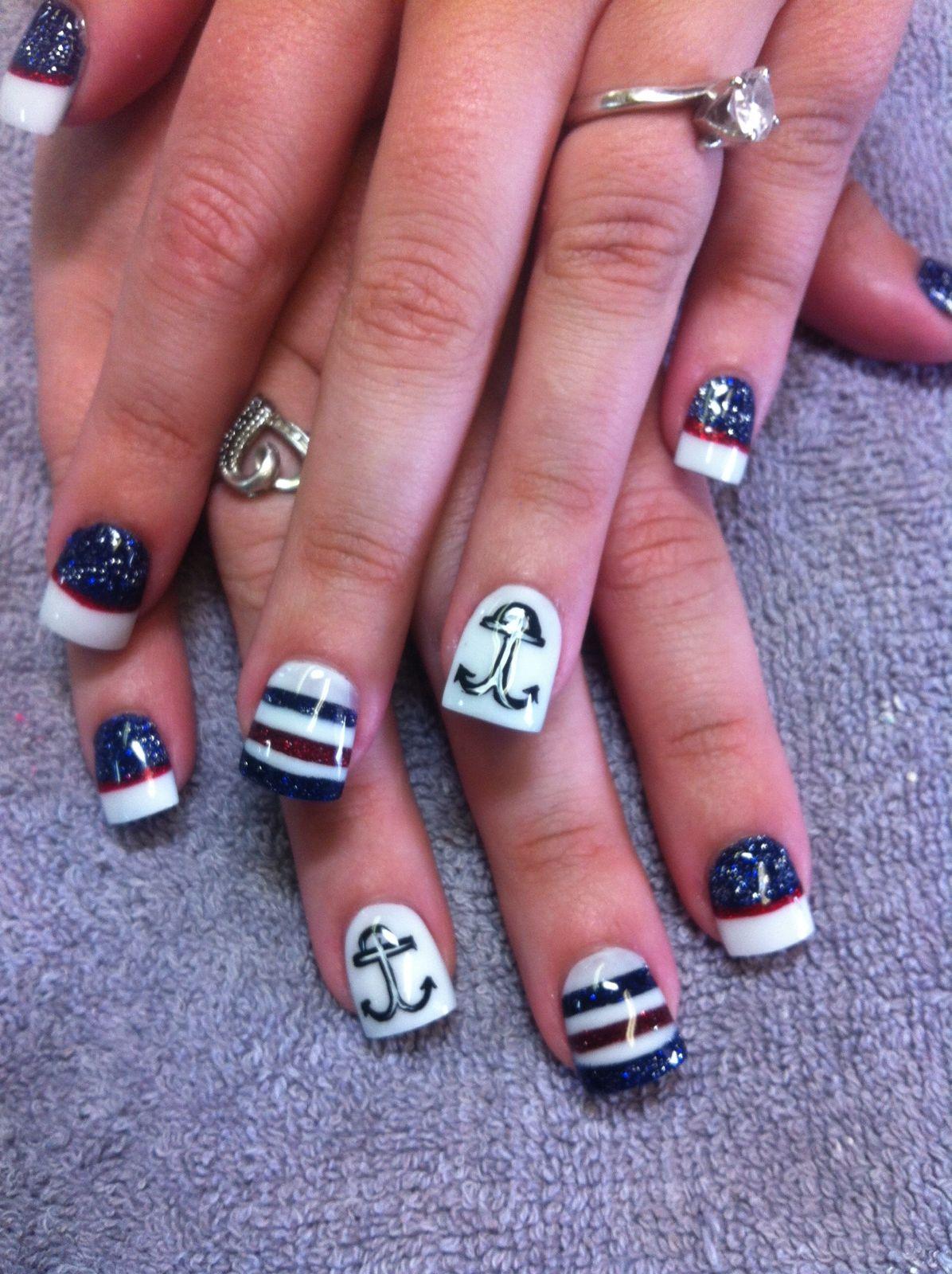 Anchor Nail Design by Cathy L at Chi Chis Nail Salon | Nails ...