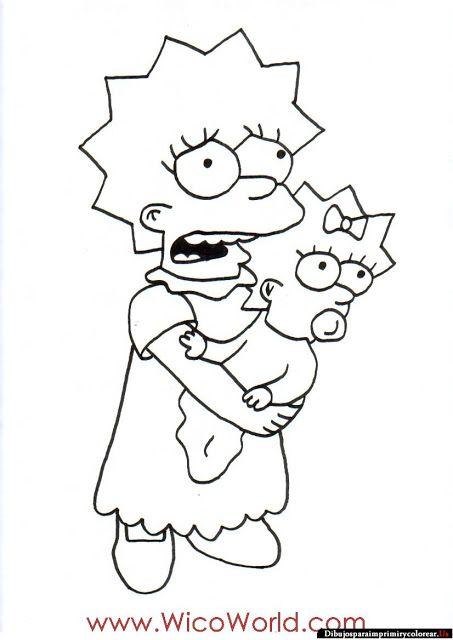 Dibujos de Los Simpson para Imprimir y Colorear | The Simpsons ...