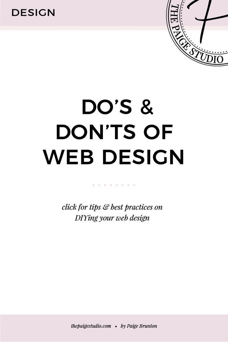 Do's & Don'ts of Website Design — Paige Brunton | Squarespace templates + Squarespace designer courses