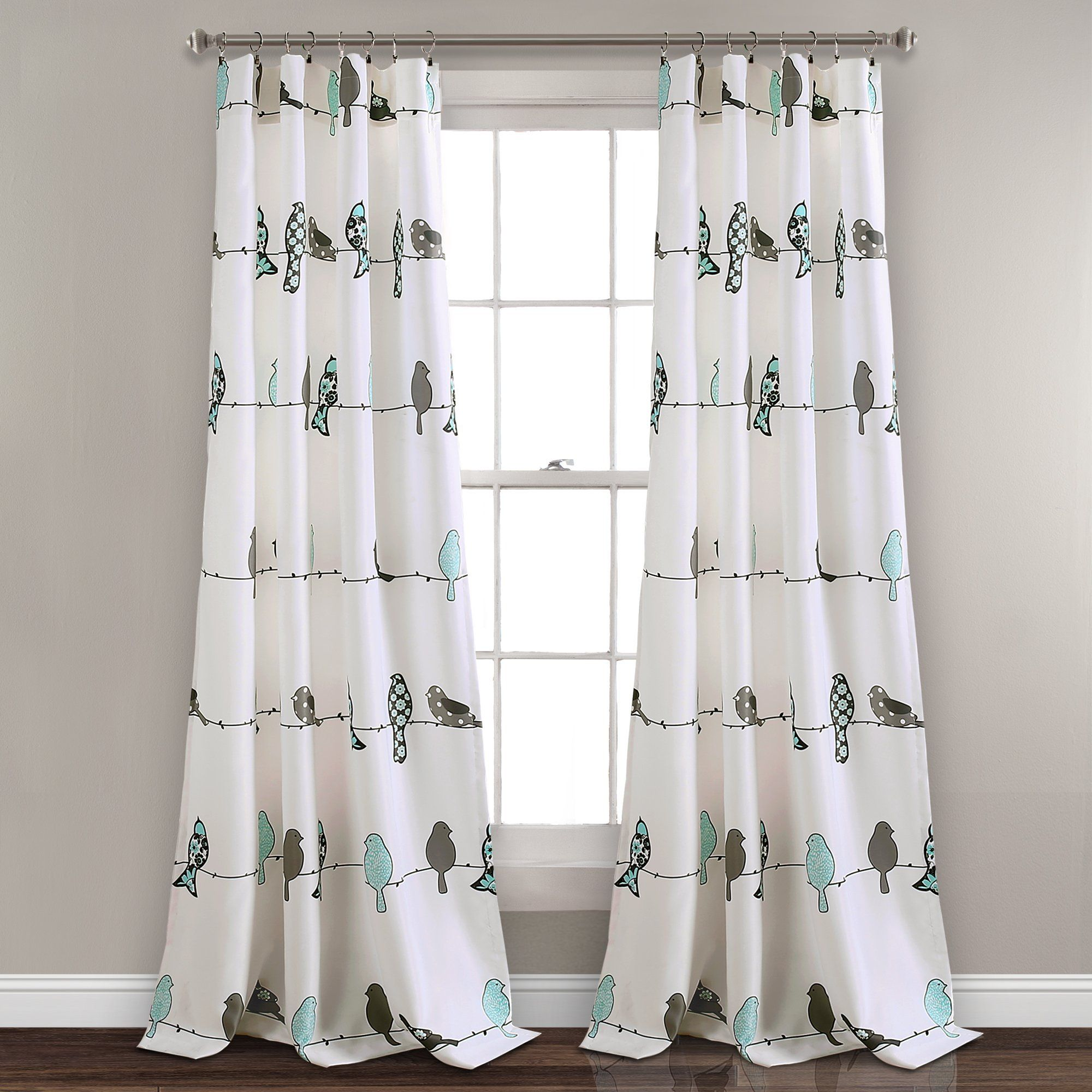Rowley Birds Room Darkening Window Curtain Set With Images