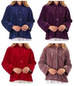 Ladies Slenderella Faux Fur Collar Bed Jacket Small Xl Fur