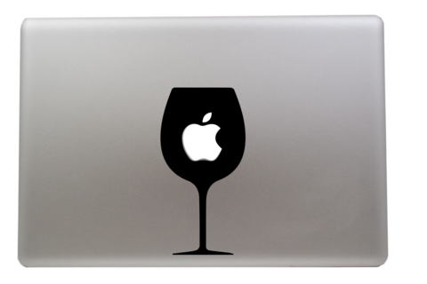 Wine Glass MacBook Decal MacBook Wine And Contemporary Design - Vinyl decals for wine glasses uk