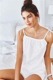 010d7ed9127 Embroidered Cotton Cami Short Set (968565) | £25 | Cami/Short Sets ...