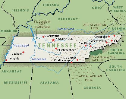 Best Tennessee Map Ideas That You Will Like On Pinterest - Us map tennessee