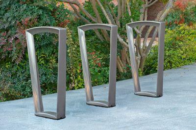 landscape forms emerson bike rack arch bike rack pinterest