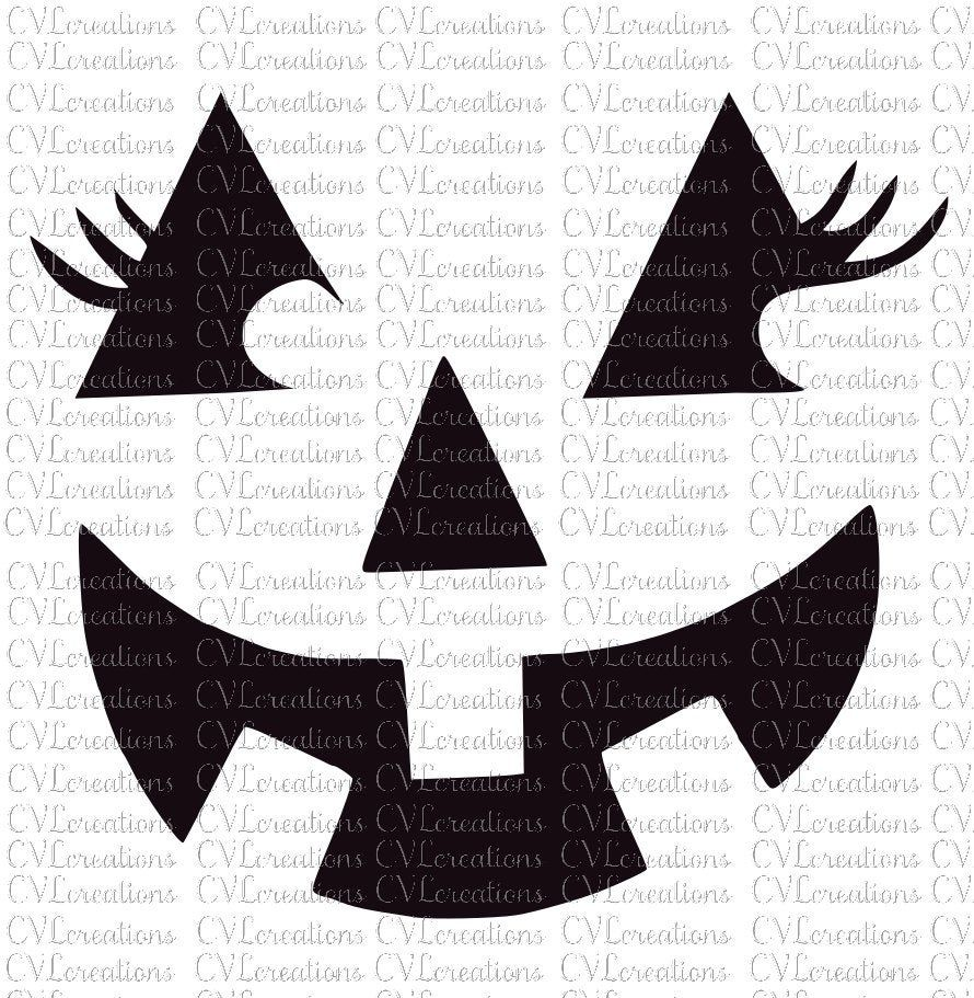 Pumpkin Face With Eyelashes Png Svg Dxf Etsy In 2021 Pumpkin Faces Pumpkin Face Templates Pumpkin Carvings Stencils