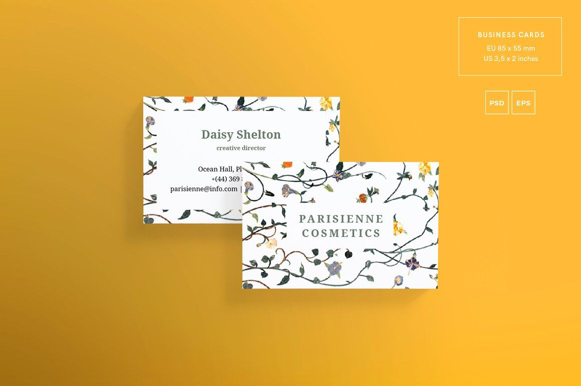 Download business card template parisienne cosmetics amber download business card template parisienne cosmetics amber graphics business card design for handmade colourmoves