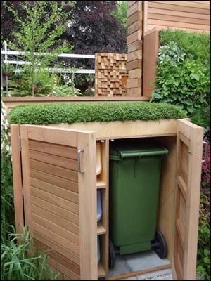Love This Idea For Those Who Recycle Those Who Don T Can Still Get An Idea For Just The Can I Don T Necessarily Ne Garden Storage Garden Design Front Garden