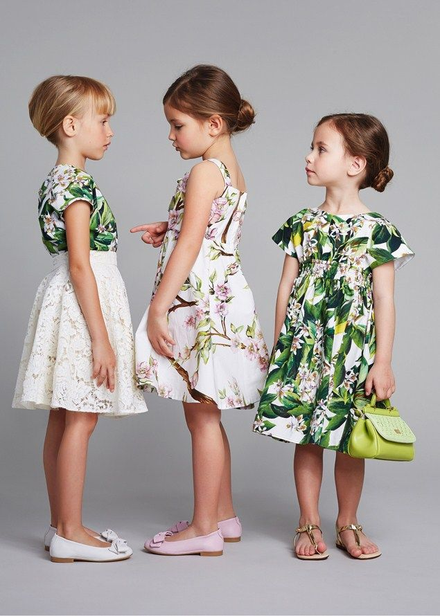 cfc2b2bc6c3 Junior Kids Fashion Trends for Summer 2019. Dolce   Gabbana for girls. I  like these for summer dresses