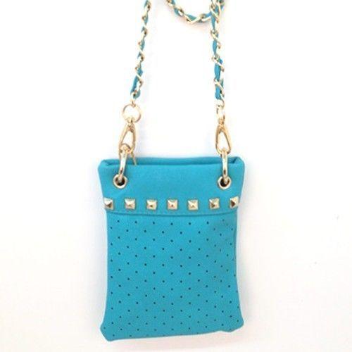Amtal Bling Cross Body Leather Mini Messenger Bag - Blue #Amtal #MessengerCrossBody